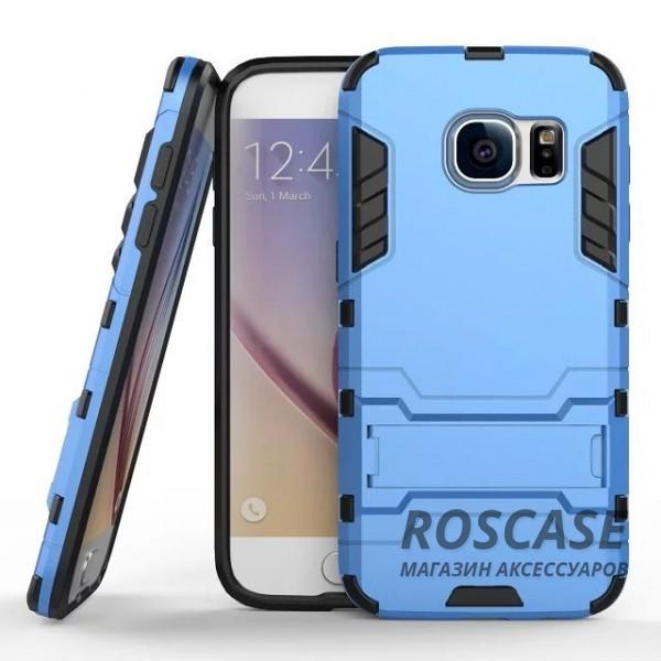 Ударопрочный чехол-подставка Transformer для Samsung G930F Galaxy S7 с мощной защитой корпуса (Синий / Navy Blue)Описание:подходит для Samsung G930F Galaxy S7;материалы: термополиуретан, поликарбонат;формат: накладка.&amp;nbsp;Особенности:функциональные вырезы;функция подставки;двойная степень защиты;защита от механических повреждений;не скользит в руках.<br><br>Тип: Чехол<br>Бренд: Epik<br>Материал: TPU