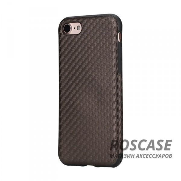 Пластиковая накладка Rock Origin Series (Texured) для Apple iPhone 7 (4.7) (Коричневый / Brown)Описание:производство бренда&amp;nbsp;Nillkin;разработана для Apple iPhone 7 (4.7);материал: термополиуретан, поликарбонат, карбоновое покрытие;тип: накладка.&amp;nbsp;Особенности:все функциональные вырезы имеются;прочный и износостойкий;не ухудшает качество сигнала;на нем не заметны отпечатки пальцев;не деформируется.<br><br>Тип: Чехол<br>Бренд: ROCK<br>Материал: Поликарбонат