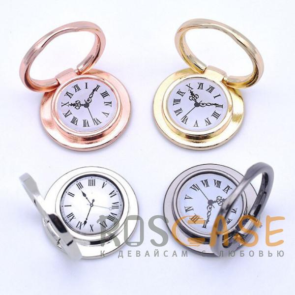 """Фото Универсальный магнитный держатель с кольцом для телефона """"Часы"""""""
