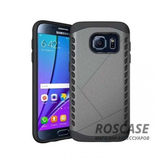 Противоударный защитный чехол Armor для Samsung G930F Galaxy S7 с усиленным прорезиненным бампером  (Серый)Описание:разработан с учетом особенностей&amp;nbsp;Samsung G930F Galaxy S7;материалы: термополиуретан, поликарбонат;формат: накладка.Особенности:защита от ударов;двойной корпус;не скользит в руках;усиленный бампер;присутствуют все необходимые вырезы.<br><br>Тип: Чехол<br>Бренд: Epik<br>Материал: TPU