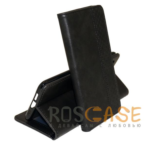 Фото Черный Business Wallet   Кожаный чехол книжка с визитницей для Samsung Galaxy A52