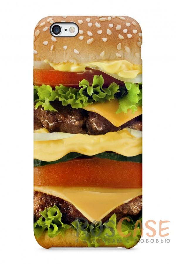 "Фото Бургер Пластиковый чехол RosCase ""Еда"" для iPhone 6/6s (4.7"")"