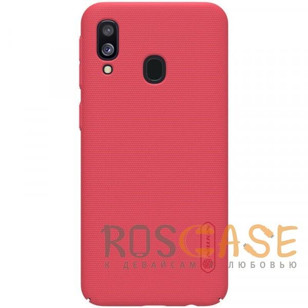 Фото Красный Nillkin Super Frosted Shield | Матовый чехол для Samsung A405F Galaxy A40