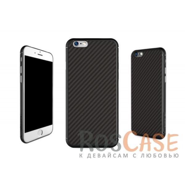 Пластиковая накладка Nillkin Synthetic Fiber series для Apple iPhone 6/6s plus (5.5) (Черный)Описание:производство бренда&amp;nbsp;Nillkin;разработано специально для Apple iPhone 6/6s plus (5.5);материал: карбон;тип: накладка.&amp;nbsp;Особенности:все функциональные вырезы имеются;прочный и износостойкий;не ухудшает качество сигнала;на нем не заметны отпечатки пальцев;не деформируется.<br><br>Тип: Чехол<br>Бренд: Nillkin<br>Материал: Пластик