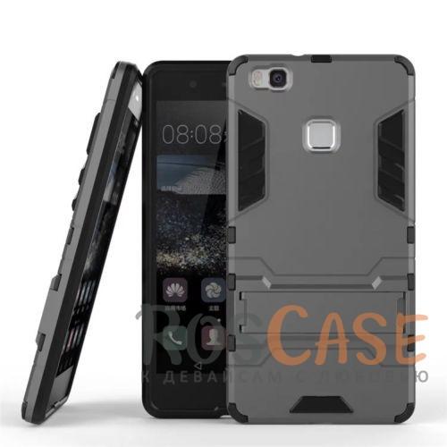 Ударопрочный чехол-подставка Transformer для Huawei P9 Lite с мощной защитой корпуса (Металл / Gun Metal)Описание:подходит для Huawei P9 Lite;материалы: термополиуретан, поликарбонат;формат: накладка.&amp;nbsp;Особенности:функциональные вырезы;функция подставки;двойная степень защиты;защита от механических повреждений;не скользит в руках.<br><br>Тип: Чехол<br>Бренд: Epik<br>Материал: TPU