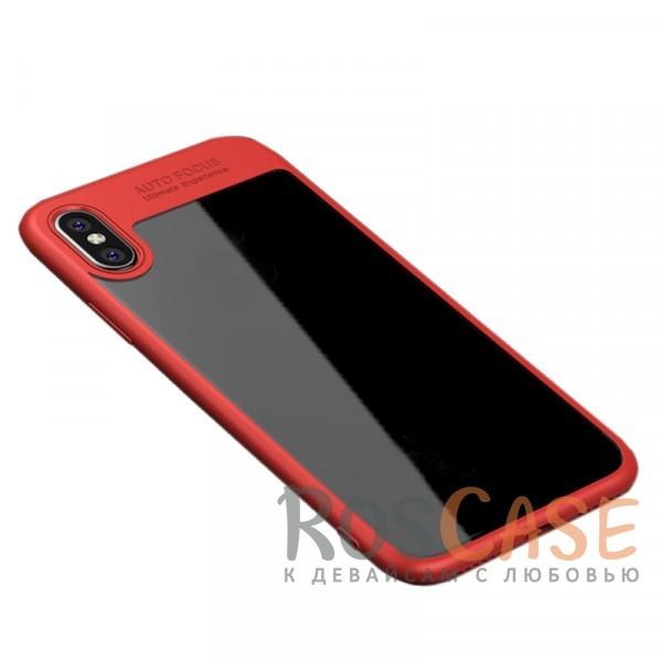 Ультратонкий чехол iPaky (original) Hard Original с глянцевой прозрачной вставкой и защитными бортиками вокруг камеры для Apple iPhone X (5.8) (Красный)Особенности:совместимость -&amp;nbsp;Apple iPhone X (5.8);бренд -&amp;nbsp;iPaky;материалы - поликарбонат, термополиуретан;тип - накладка;прозрачная вставка из поликарбоната;легко устанавливается;дополнительная защита камеры;дублирующие кнопки для защиты клавиш;ультратонкий дизайн;предусмотрены все функциональные вырезы.&amp;nbsp;<br><br>Тип: Чехол<br>Бренд: iPaky<br>Материал: Поликарбонат