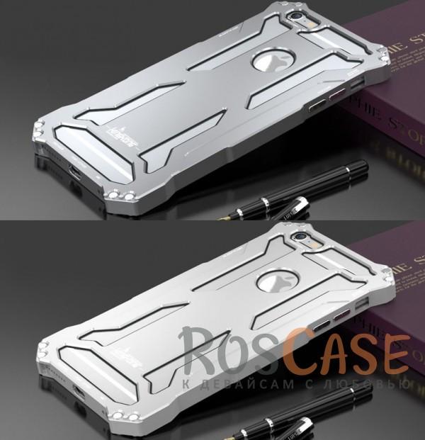 """Фото Объемный противоударный алюминиевый бампер Luphie King-Kong с уникальный дизайном для Apple iPhone 6/6s (4.7"""")"""