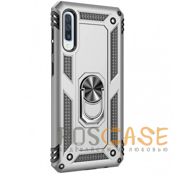 Фотография Серебряный Ударопрочный чехол Serge Ring магнитный держатель для Samsung Galaxy A50 (A505F) / A50s / A30s