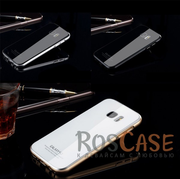 Металлический бампер Luphie с акриловой вставкой для Samsung G935F Galaxy S7 EdgeОписание:бренд -&amp;nbsp;Luphie;материал - алюминий, акриловое стекло;совместим с Samsung G935F Galaxy S7 Edge;тип - бампер со вставкой.Особенности:акриловая вставка;прочный алюминиевый бампер;в наличии все вырезы;ультратонкий дизайн;защита устройства от ударов и царапин.<br><br>Тип: Чехол<br>Бренд: Luphie<br>Материал: Металл