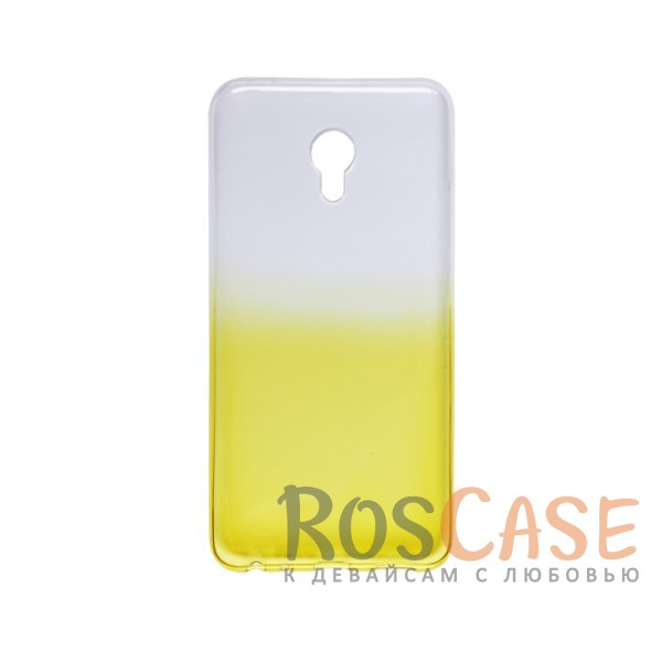 Фото Желтый Прозрачный TPU чехол с цветным градиентом для Meizu MX6