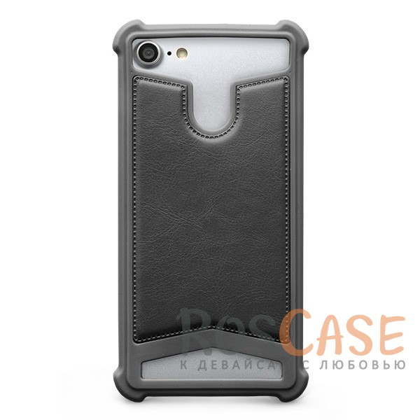 Универсальный чехол-накладка с противоударным бампером Gresso Классик для смартфона 4.7-5.0 дюйма (Серый)Описание:бренд -&amp;nbsp;Gresso;совместимость -&amp;nbsp;смартфоны с диагональю 4.7-5.0&amp;nbsp;дюйма;материал - искусственная кожа, силикон;тип - накладка;предусмотрены все необходимые вырезы;силиконовый бампер;ударопрочная конструкция;ВНИМАНИЕ: убедитесь, что ваша модель устройства находится в пределах максимального размера чехла. Размеры чехла:&amp;nbsp;70х137х10 мм.<br><br>Тип: Чехол<br>Бренд: Gresso<br>Материал: Искусственная кожа
