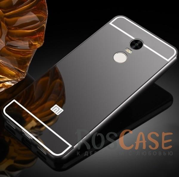 Металлический бампер с акриловой вставкой с зеркальным покрытием для Xiaomi Redmi Note 4 (Черный)Описание:разработан для Xiaomi Redmi Note 4;материалы - металл, акрил;тип - бампер с задней панелью.<br><br>Тип: Чехол<br>Бренд: Epik<br>Материал: Металл