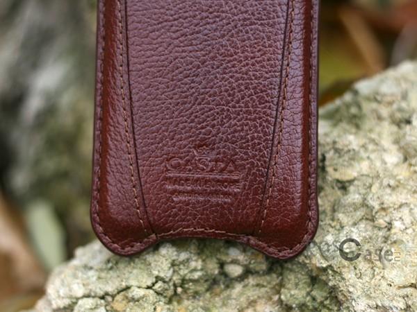 Фотография Коричневый Кожаный футляр Casta Premium 127 x 62 x 11 для Apple iPhone 5/5S/SE