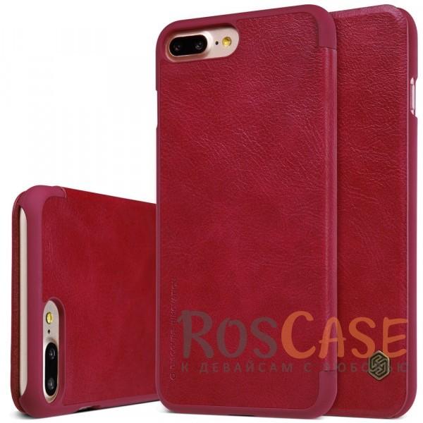 Кожаный чехол (книжка) Nillkin Qin Series для Apple iPhone 7 plus (5.5) (Красный)Описание:производитель:&amp;nbsp;Nillkin;совместим с Apple iPhone 7 plus (5.5);материал: натуральная кожа;тип: чехол-книжка.&amp;nbsp;Особенности:защита от механических повреждений;ультратонкий;фактурная поверхность;внутренняя отделка микрофиброй.<br><br>Тип: Чехол<br>Бренд: Nillkin<br>Материал: Искусственная кожа