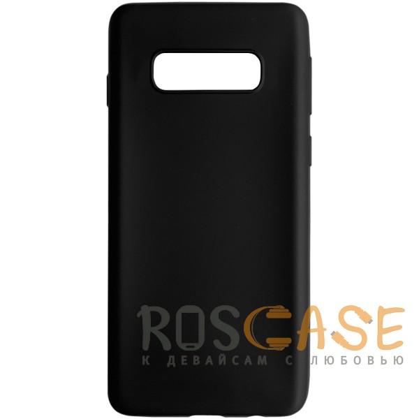 Фото Черный J-Case THIN | Гибкий силиконовый чехол для Samsung Galaxy S10e