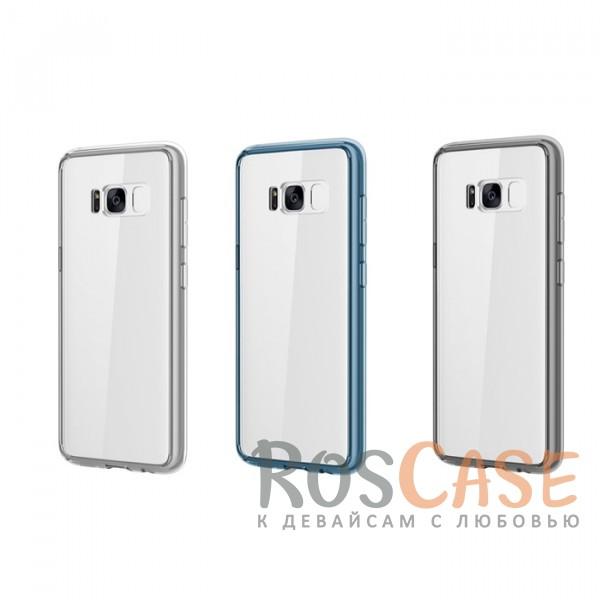 Ультратонкий пластиковый чехол-накладка с дополнительной защитой углов и кнопок для Samsung G955 Galaxy S8 PlusОписание:производитель -&amp;nbsp;Rock;материалы - поликарбонат, термополиуретан;разработан специально для Samsung G955 Galaxy S8 Plus;прозрачная накладка;легкий дизайн;защитный бортик вокруг камеры;защита задней панели и боковых граней.<br><br>Тип: Чехол<br>Бренд: ROCK<br>Материал: Поликарбонат