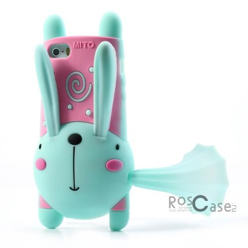 """фото силиконовый чехол """"Кролик"""" с функцией подставки для Apple iPhone 5/5S/5SE"""