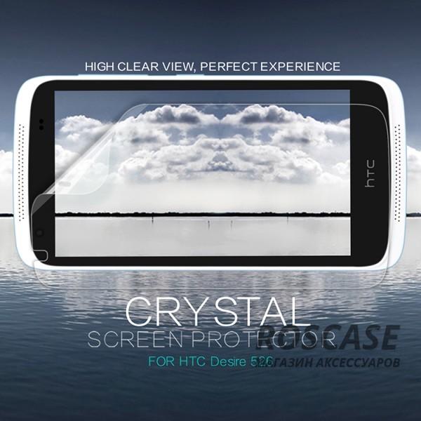 Защитная пленка Nillkin Crystal для HTC Desire 526/526G / Desire 326GОписание:бренд:&amp;nbsp;Nillkin;совместима с HTC Desire 526/526G / Desire 326G;материал: полимер;тип: защитная пленка.&amp;nbsp;Особенности:в наличии все необходимые функциональные вырезы;не влияет на чувствительность сенсора;глянцевая поверхность;свойство анти-отпечатки;не желтеет;легко очищается.<br><br>Тип: Защитная пленка<br>Бренд: Nillkin