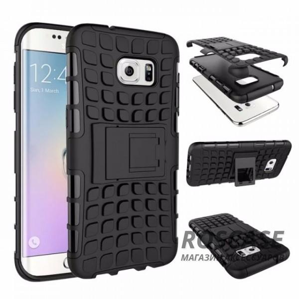 Противоударный двухслойный чехол Shield для Samsung G935F Galaxy S7 Edge с подставкой (Черный)Описание:разработан специально для Samsung G935F Galaxy S7 Edge;материалы: поликарбонат, термополиуретан;тип: накладка.&amp;nbsp;Особенности:двухслойный;ударопрочный;оригинальный дизайн;стильный дизайн;в наличии все функциональные вырезы;функция подставки.<br><br>Тип: Чехол<br>Бренд: Epik<br>Материал: TPU