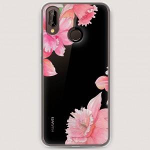 RosCase | Силиконовый чехол Розовые цветочные уголки на Huawei Nova 3