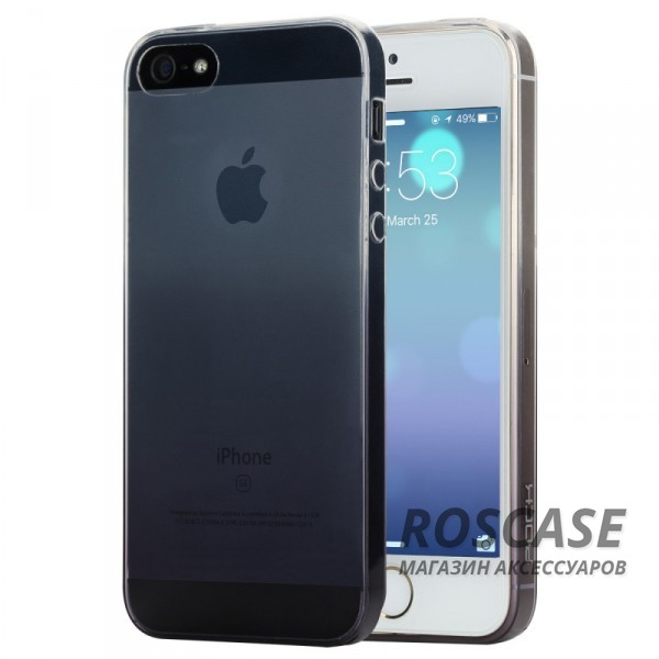 TPU чехол ROCK Iris series для Apple iPhone 5/5S/SE (Черный / Transparent black)Описание:производитель  -  Rock;форм-фактор  -  чехол-накладка;материалы  -  термополиуретан (TPU);совместим с Apple iPhone 5/5S/SE.Особенности:тип защиты  -  бортики, тыльная панель;выемки под внешние порты, камеру, колонку, регулятор громкостилегкая очистка;тонкий дизайн.<br><br>Тип: Чехол<br>Бренд: ROCK<br>Материал: TPU