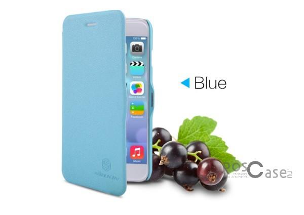 Кожаный чехол (книжка) Nillkin Fresh Series для Apple iPhone 6/6s plus (5.5) (Голубой)Описание:Изготовлен компанией&amp;nbsp;Nillkin;Спроектирован персонально для&amp;nbsp;Apple iPhone 6/6s plus (5.5);Материал: синтетическая высококачественная кожа и полиуретан;Форма: чехол в виде книжки.Особенности:Исключается появление царапин и возникновение потертостей;Восхитительная амортизация при любом ударе;Фактурная поверхность;Не подвержен деформации;Непритязателен в уходе.<br><br>Тип: Чехол<br>Бренд: Nillkin<br>Материал: Искусственная кожа