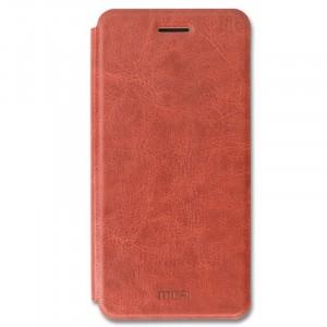 Классический кожаный чехол-книжка с металлической вставкой в обложке и функцией подставки для Huawei Mate 10 Pro