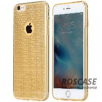 фотография Золотой / Transparent Gold TPU чехол Rock Fla Series для Apple iPhone 6/6s (4.7