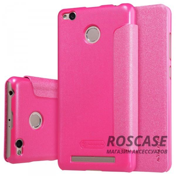 Кожаный чехол (книжка) Nillkin Sparkle Series для Xiaomi Redmi 3 Pro / Redmi 3s (Розовый)Описание:бренд&amp;nbsp;Nillkin;создан для Xiaomi Redmi 3 Pro / Redmi 3s;материал: искусственная кожа, поликарбонат;тип: чехол-книжка.Особенности:не скользит в руках;защита от механических повреждений;не выгорает;блестящая поверхность;надежная фиксация.<br><br>Тип: Чехол<br>Бренд: Nillkin<br>Материал: Искусственная кожа