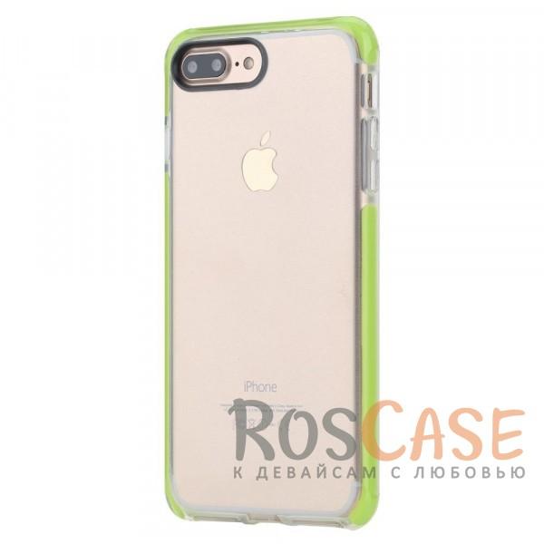 TPU+PC чехол Rock Guard Series для Apple iPhone 7 plus (5.5) (Зеленый / Transparent Green)Описание:бренд&amp;nbsp;Rock;совместимость: Apple iPhone 7 plus (5.5);материал: термопластичный полиуретан и термоэластопласт;вид: накладка.&amp;nbsp;Особенности:ударопрочный;все функциональные вырезы предусмотрены;защита камеры от царапин;защита экрана благодаря наличию выступающих краев по его периметру;<br><br>Тип: Чехол<br>Бренд: ROCK<br>Материал: TPU