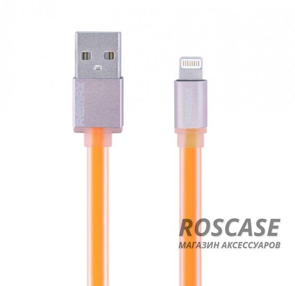 Дата кабель Remax (Colorful) Lightning для Apple iPhone 5/5s/5c/SE/6/6 Plus/6s/6s Plus /7/7 Plus 1m (Оранжевый)Характеристики:бренд  -  Remax;совместимость - Apple iPhone 5/5s/5c/SE/6/6 Plus/6s/6s Plus /7/7 Plus;материал  -  изготовлен из пластика;тип  -  дата-кабель.Особенности:длина  -  1 м;разъемы  -  lightning, usb;гибкий;скорость передачи данных  -  соответствует протоколу USB 3.0 для ПК.<br><br>Тип: USB кабель/адаптер<br>Бренд: Remax
