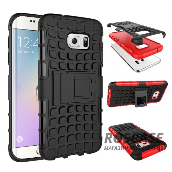 Противоударный двухслойный чехол Shield для Samsung G930F Galaxy S7 с подставкойОписание:разработан специально для Samsung G930F Galaxy S7;материалы: поликарбонат, термополиуретан;тип: накладка.&amp;nbsp;Особенности:двухслойный;ударопрочный;оригинальный дизайн;стильный дизайн;в наличии все функциональные вырезы;функция подставки.<br><br>Тип: Чехол<br>Бренд: Epik<br>Материал: TPU