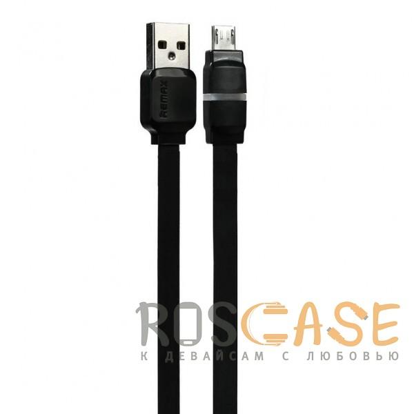 Фото Черный Remax RC-029 | Плоский дата кабель с разъемом MicroUSB (100 см)