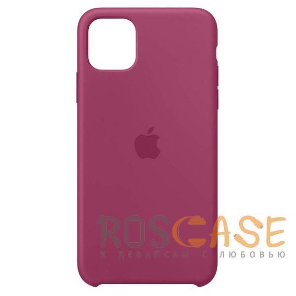 Фото Гранатовый Силиконовый чехол Silicone Case с микрофиброй для iPhone 11 Pro