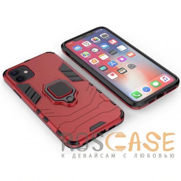 Фотография Красный Transformer Ring | Противоударный чехол под магнитный держатель для iPhone 12 Mini