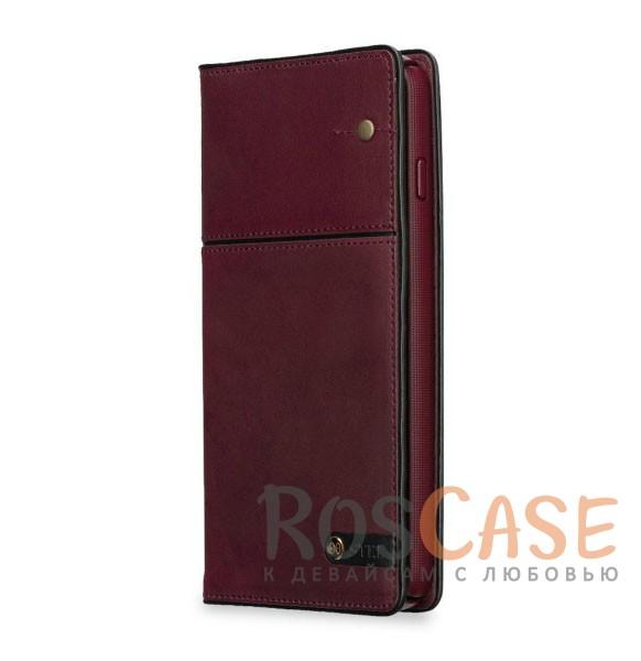 "Фото Кожаный чехол-книжка STIL Toscano Wine Series для Apple iPhone 7 plus / 8 plus (5.5"") (+ карманы для визиток)"