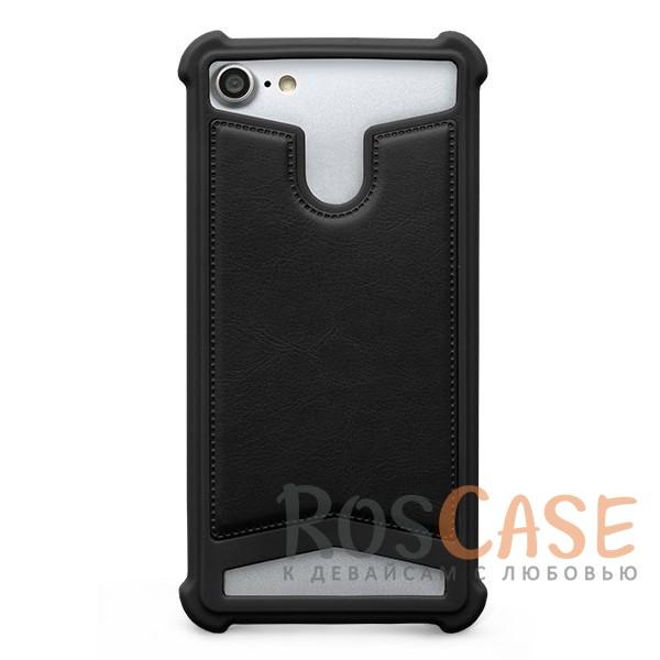 Универсальный чехол-накладка с противоударным бампером Gresso Классик для смартфона 5.3-5.6 дюйма (Черный)Описание:бренд -&amp;nbsp;Gresso;совместимость -&amp;nbsp;смартфоны с диагональю 5.3-5.6&amp;nbsp;дюйма;материал - искусственная кожа, силикон;тип - накладка;предусмотрены все необходимые вырезы;силиконовый бампер;ударопрочная конструкция;ВНИМАНИЕ: убедитесь, что ваша модель устройства находится в пределах максимального размера чехла.&amp;nbsp;Размеры чехла: 15*8*1 см.<br><br>Тип: Чехол<br>Бренд: Gresso<br>Материал: Искусственная кожа