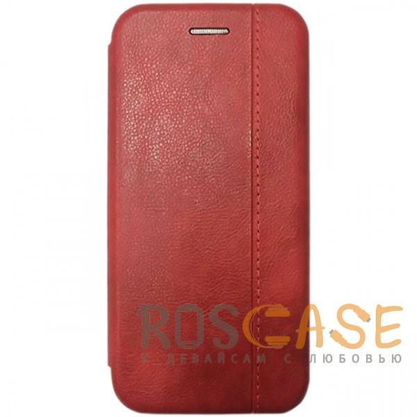 Фото Красный Open Color 2 | Чехол-книжка на магните для Huawei Y5 (2018) / Y5 Prime (2018) с подставкой и внутренним карманом