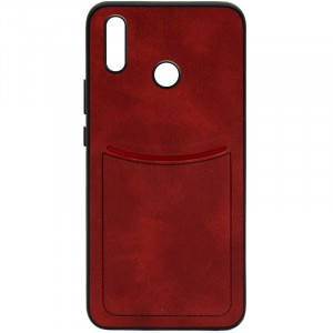 ILEVEL | Чехол с кожаным покрытием и с карманом-визитницей для Huawei P20 Lite