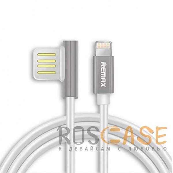 Изображение Серебряный Remax Emperor | Дата кабель USB to Lightning с угловым штекером USB (100 см)