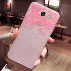 Силиконовый матовый чехол с принтом  для Samsung Galaxy A7 2017 (A720F)