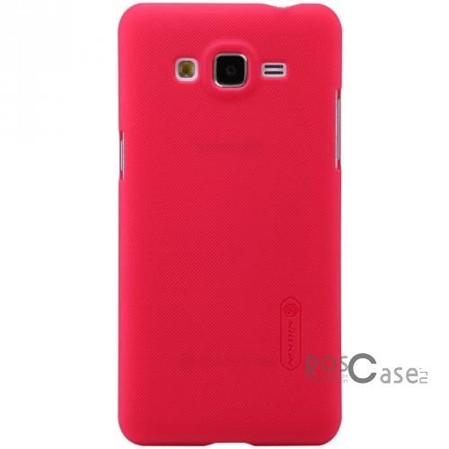 Чехол Nillkin Matte для Samsung G530H/G531H Galaxy Grand Prime (+ пленка) (Красный)Описание:Чехол изготовлен компанией&amp;nbsp;Nillkin;Спроектирован для Samsung G530H/G531H Galaxy Grand Prime;Материал  -  пластик;Форма  -  накладка.Особенности:Защищает от появления потертостей;В комплект входит глянцевая пленка;Имеет ребристое матовое покрытие и антикислотное напыление;Тонкий дизайн.<br><br>Тип: Чехол<br>Бренд: Nillkin<br>Материал: Поликарбонат