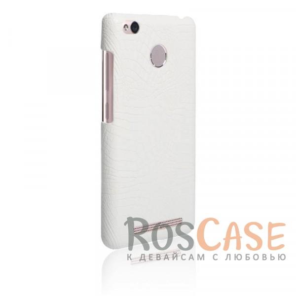 Кожаный чехол с узором из крокодиловой кожи Croc Series для Xiaomi Redmi 3 Pro / Redmi 3s (Белый)<br><br>Тип: Чехол<br>Бренд: Epik<br>Материал: Искусственная кожа