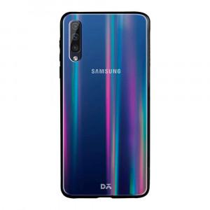 TPU+Glass чехол Gradient Aurora с лого  для Samsung Galaxy A50s