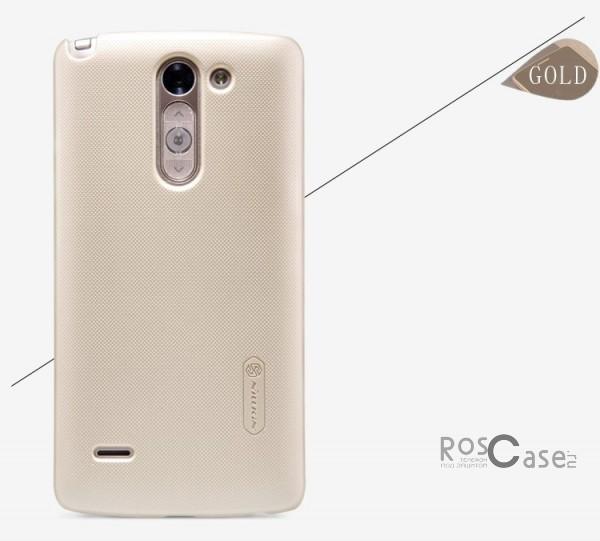 Чехол Nillkin Matte для LG D690 G3 Stylus Dual (+ пленка) (Золотой)Описание:разработчик и производитель&amp;nbsp;Nillkin;изготовлен из поликарбоната;поверхность матовая;тип конструкции: накладка;совместим с LG D690 G3 Stylus Dual.&amp;nbsp;Особенности:широкая цветовая гамма;высокая износостойкость;ультратонкий;легкая фиксация;легкая очистка.<br><br>Тип: Чехол<br>Бренд: Nillkin<br>Материал: Поликарбонат