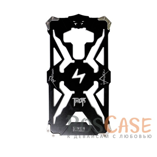 Противоударный чехол из авиационного алюминия на винтах Thor для Meizu MX6 (Черный)<br><br>Тип: Чехол<br>Бренд: Epik<br>Материал: Металл
