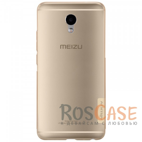 Фотография Золотой (прозрачный) Nillkin Nature | Силиконовый чехол для Meizu M5 Note