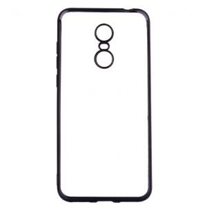 Прозрачный силиконовый чехол для Xiaomi Redmi 5 с глянцевой окантовкой