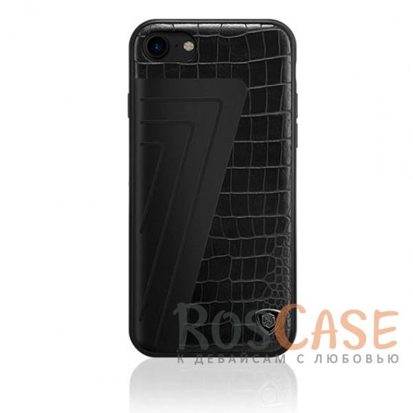 Кожаная накладка Nillkin Hybrid Series для Apple iPhone 7 (4.7) (Черный (Crocodile))Описание:произведено брендом&amp;nbsp;Nillkin;совместимость - Apple iPhone 7 (4.7);материалы: поликарбонат, термополиуретан, металл, искусственная кожа;тип: накладка.&amp;nbsp;Особенности:оригинальный дизайн;вставка с фактурой крокодиловой кожи;двухцветный стиль;анти-отпечатки;не скользит в руках;защищает заднюю панель и боковые грани.<br><br>Тип: Чехол<br>Бренд: Nillkin<br>Материал: Искусственная кожа