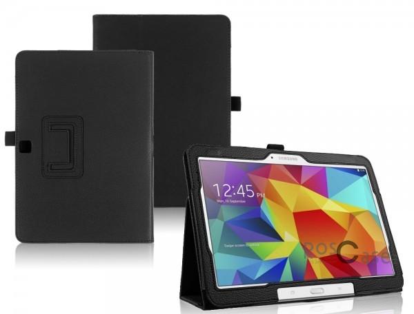 Кожаный чехол-книжка TTX c функцией подставки для Samsung Galaxy Tab 4 10.1/Galaxy Tab S 10.5 (Черный)Описание:разработка и изготовление TTX;изготовлен из синтетической кожи;фактурная поверхность;внутри отделан микрофиброй;тип конструкции: чехол-книжка;совместим с Samsung Galaxy Tab 4 10.1/Galaxy Tab S 10.5.&amp;nbsp;Особенности:износостойкий;добротный классический дизайн;может выполнять функцию подставки;широкая палитра цветов;легко очищается.<br><br>Тип: Чехол<br>Бренд: TTX<br>Материал: Искусственная кожа